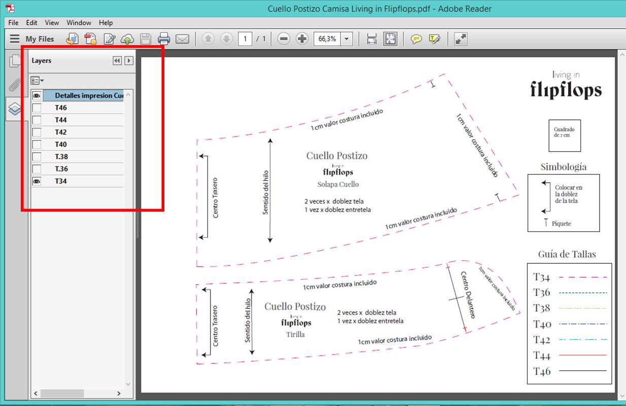 como imprimir patrones de costura en pdf desde casa