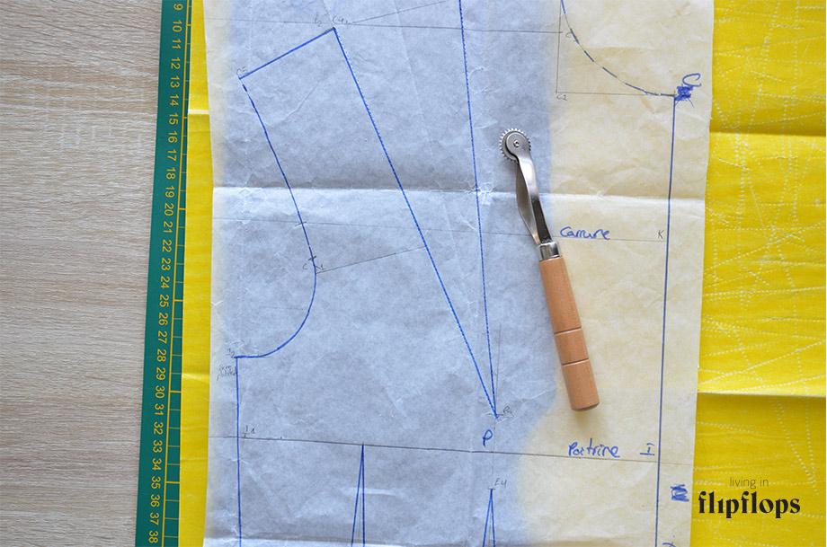 como coser pinzas de costura