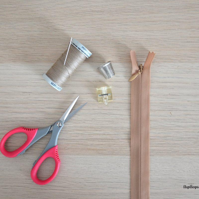 Coser una cremallera invisible paso a paso