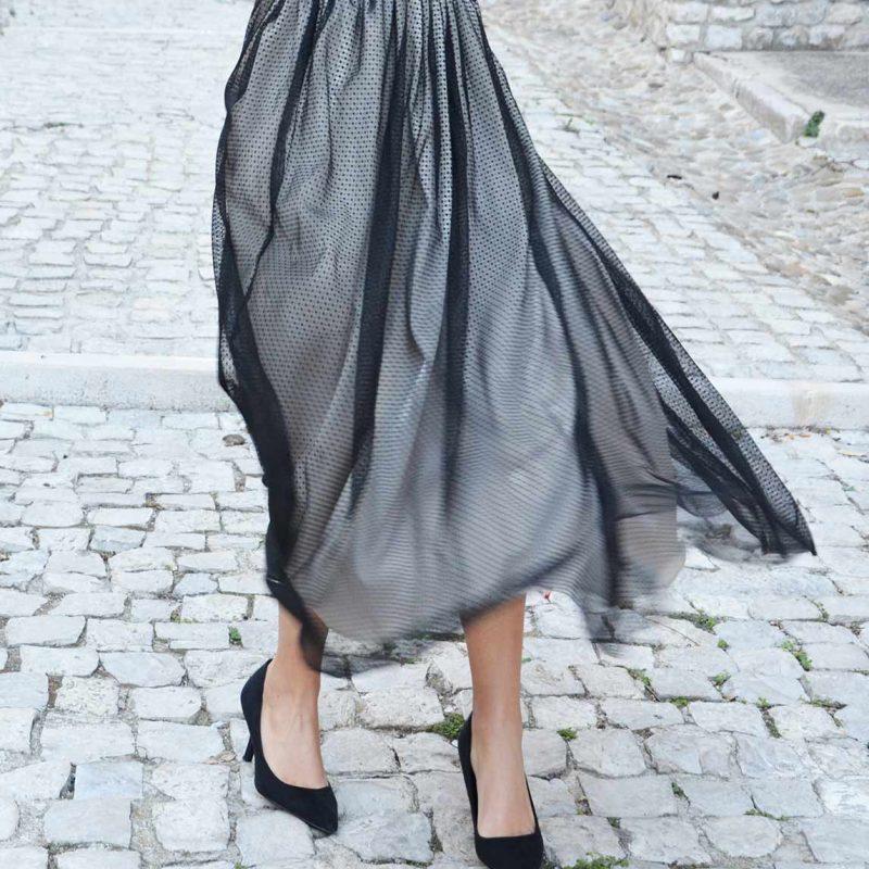 como coser una falda de tul paso a paso por living in flipflops