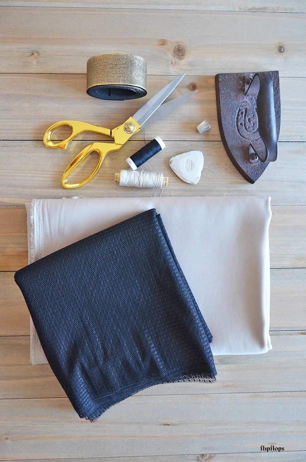 materiales de como coser una falda de tul paso a paso