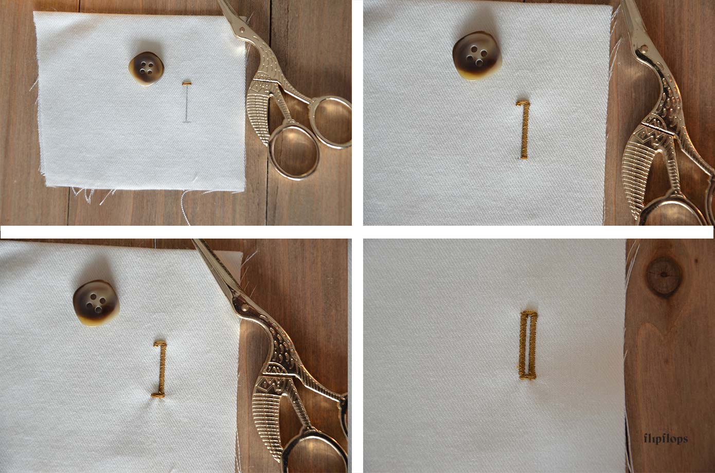 Como hacer ojales para botones – Living in Flipflops