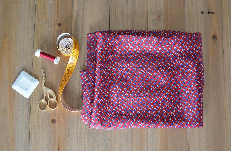 materiales tutorial costura vestido verano