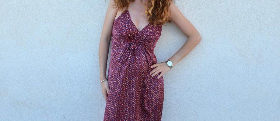 Cose un vestido largo de verano para Premamás o no