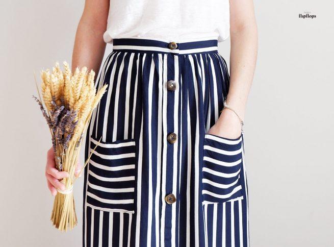 patron de costura falda fenix