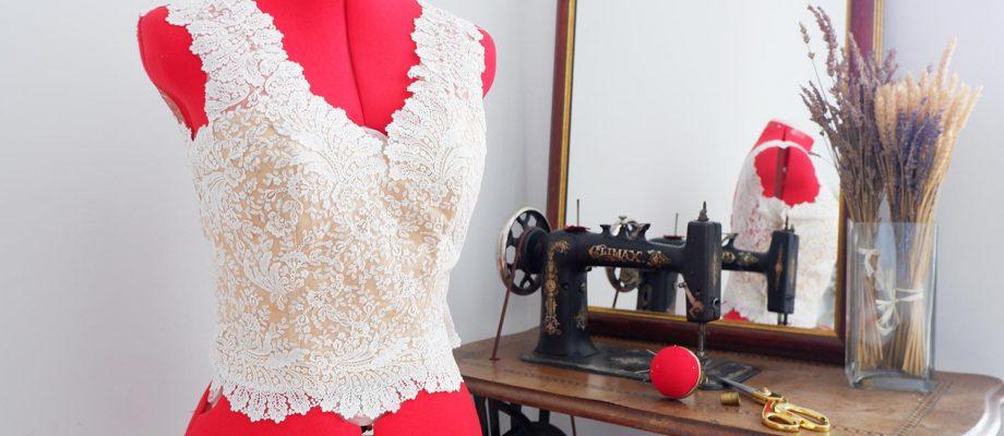Creación del encaje para un vestido de novia