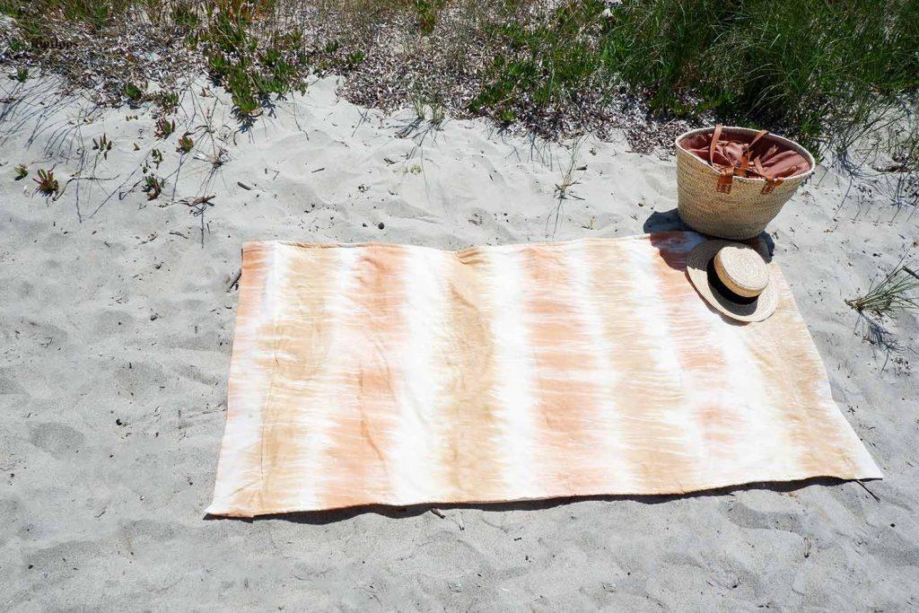 como coser una toalla de playa paso a paso