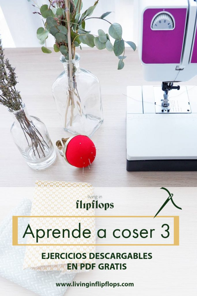 Ejercicios para aprender a coser a máquina por living in flipflops