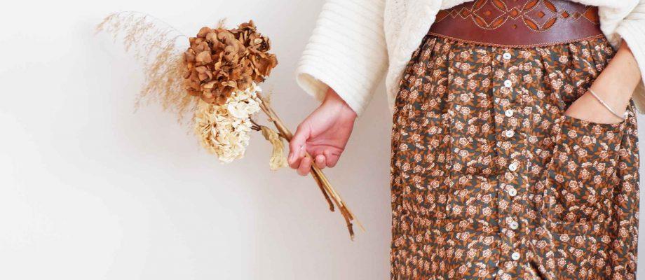 Inspiración patrón de costura falda Fénix