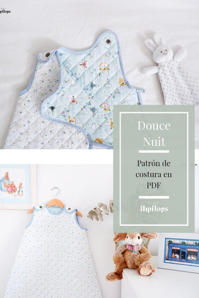 patrón de costura saco de dormir para niños