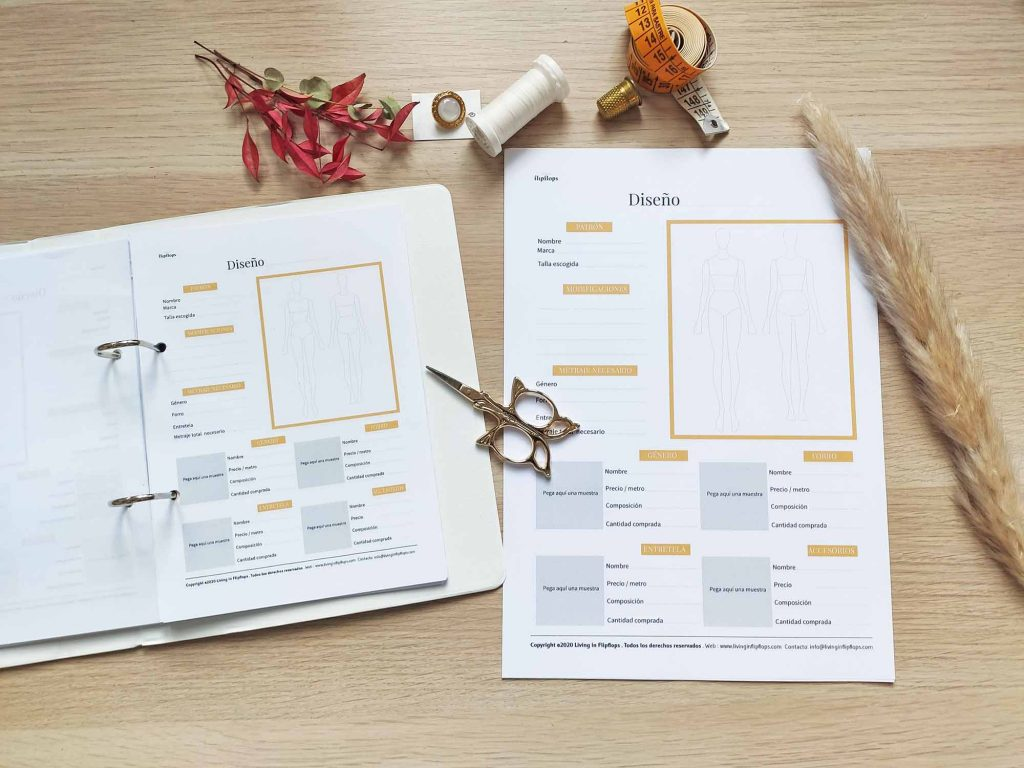 organizador de costura en pdf disponible en A4 y A5