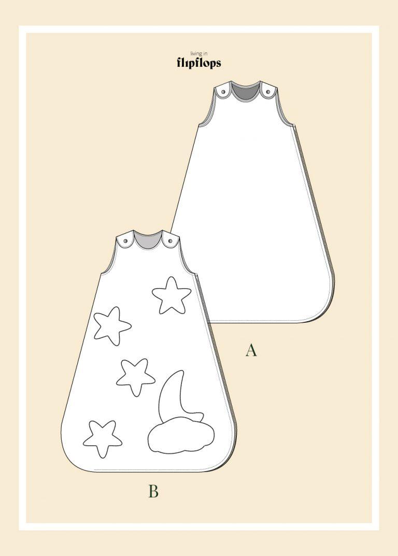 patrón de costura para niños y bebés , saco de dormir , descargable en pdf, de living in flipflops