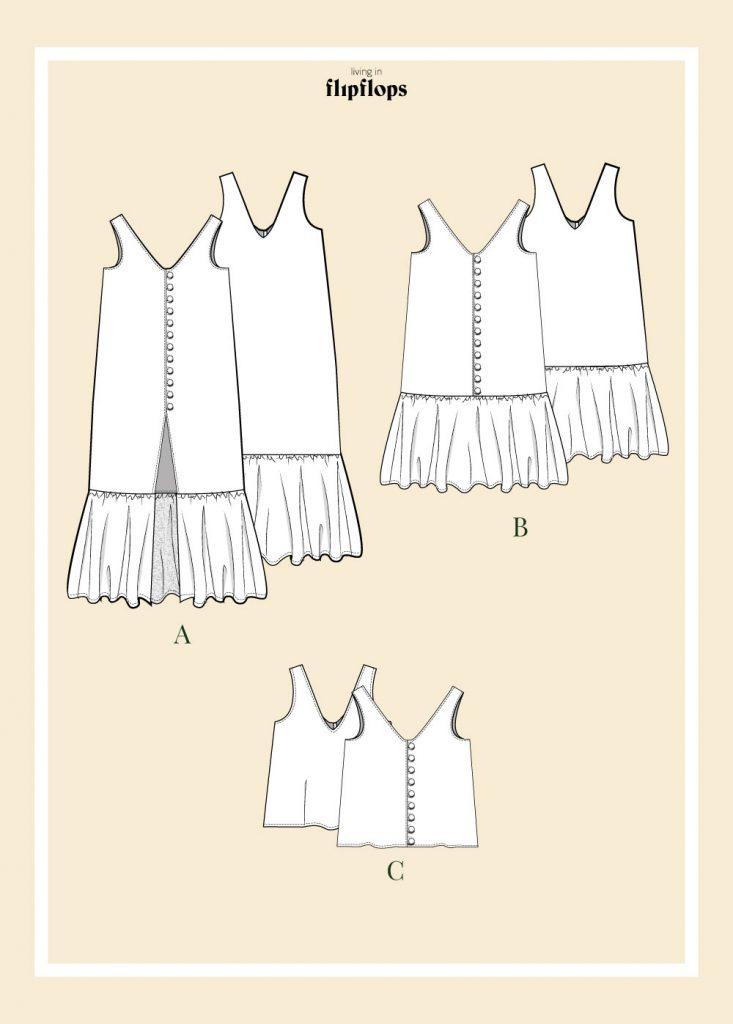 patrón de costura vestido de verano