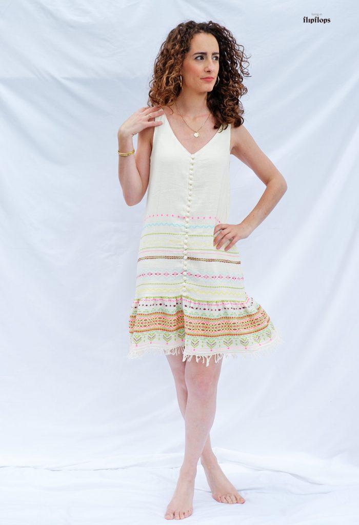 patrón de costura vestido de verano corto y largo